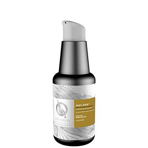 Quicksilver Scientific Liposomal NAD+ Gold - Liquid NAD-Precursor Supplement with NMN + TMG - Anti-Aging, Cognitive, Liver + Energy Support - Gluten Free, Non GMO + Superior Absorption (1oz / 30ml)