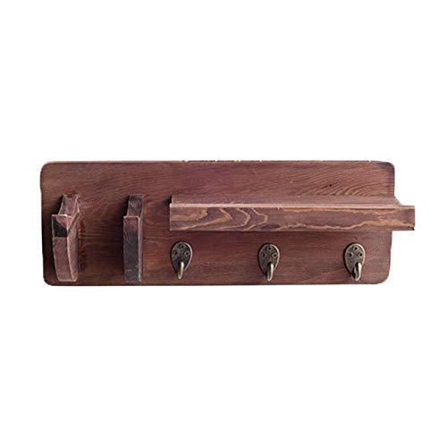 Colgador de pared para guitarra, soporte para colgar en madera con soporte para púas y 3 ganchos, soporte para montaje en pared para ukelele