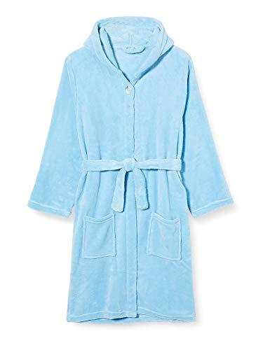 Playshoes Unisex Kinder Fleece-bademantel Uni Bademantel, Blau (Bleu 17), 134-140 EU