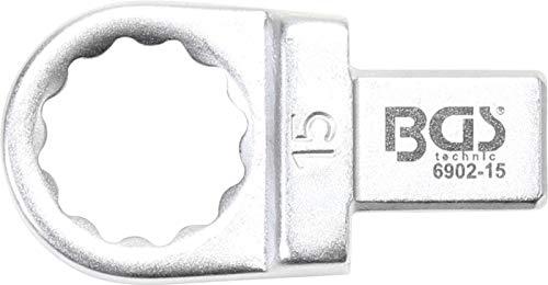BGS 6902-15 | Clé annulaire | 15 mm | Empreinte 9 x 12 mm