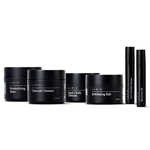 El set de regalo del cuidado completo de la piel para hombre