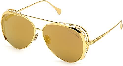 Gafas de sol Roberto Cavalli RC 1122 30C oro amarillo brillante, cristal de corte baguette D