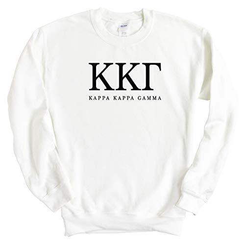 KKG Kappa Kappa Gamma Block Letter Sorority Crewneck Sweatshirt