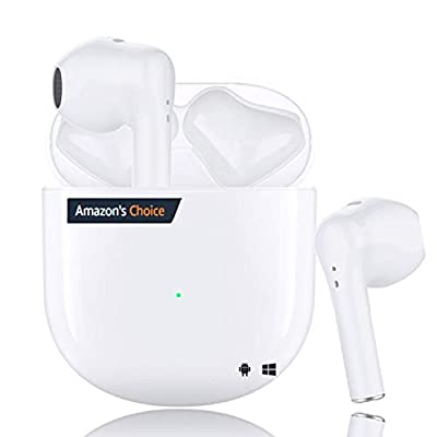 Wireless Earbuds Bluetooth 5.0 Headphones in Ear Earbuds (Fast Charging Case) Built in Mic Headset Pop-ups Pairing Earphones 3D Stereo Deep Bass,for iPhone/Android Sports Headphones by DCY