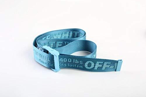Hukat Cinturón Amarillo Estilo Industrial Lienzo Bordado Cinturón Hombres y Mujeres Faja Decoración Cinturones De Moda, Azul 2,150cm