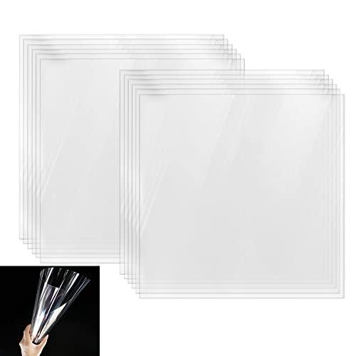 36 PCS 6 mil Blank Stencil Sheets,Transparent Material Mylar Templates Square...