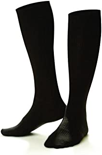 Doctor Comfort Compression Knee High Socks 15-20mmHg Men's Tencel Dress (Medium, Black)