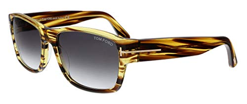 Tom Ford MARRONE SCURO/ALTRO FRAME WITH FUMO GRAD LENS