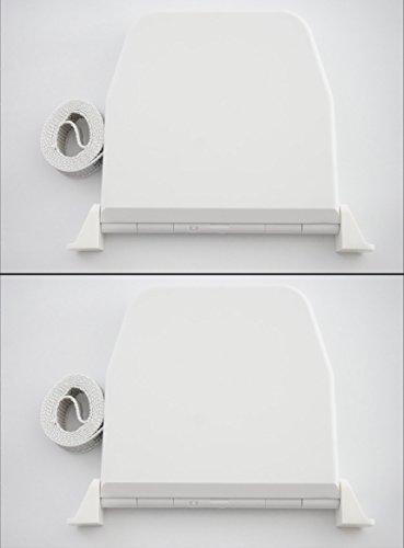 Rollwin 2x Rolladen Gurtwickler Aufputz 14mm | Mini Weiß mit 5m Gurt| Lochabstand 155mm | Aufklappbar