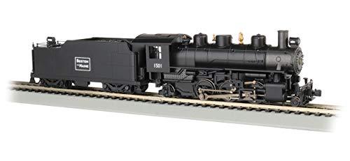 Prairie 2-6-2 Steam Locomotive w/Smoke & Tender - Boston & Maine #1501 - HO Scale