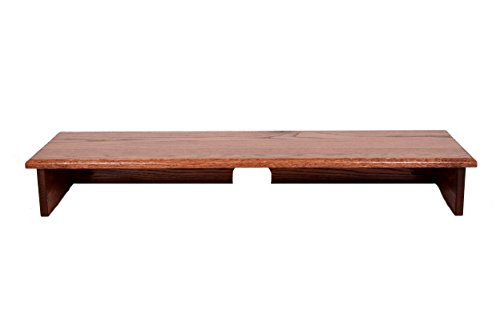 "RED Oak Stained Sound BAR TV Riser 40"" Wide X 12"" DEEP X 5 1/2"" HIGH -Solid, Real Wood, Safe TV Riser"