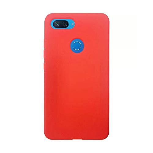 Capa Para Celular Customic Xiaomi Mi 8 Lite Soft Touch Proteção Capinha (Vermelho)