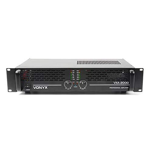 VONYX VXA-2000 DJ Power Amplifier 2 Channel Stereo & Bridge PA 19' 1U 1000w...