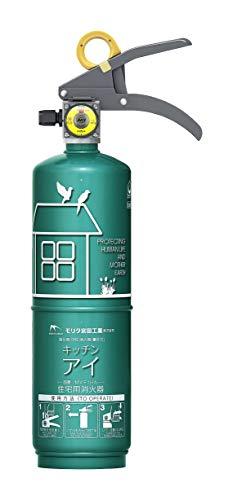 モリタ宮田工業 住宅用強化液(中性)消火器 キッチンアイ エメラルドグリーン MVF1HAG
