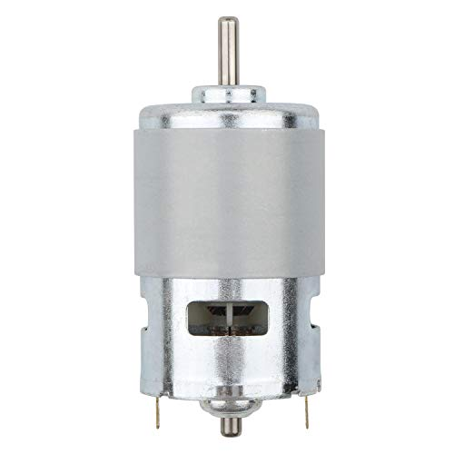 Ellbest DC 12V 12000 RPM Mini Gear Motor High Torque Electric Micro Speed Reduction Geared Motor Centric Output Shaft 45mm Diameter Gearbox