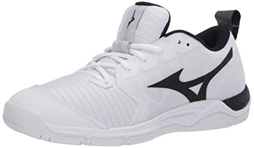 Mizuno Women's Wave Supersonic 2 Volleyball Shoe, White/Black, 8.5 B US