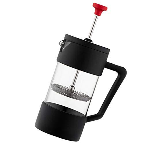 Hemoton French Press Kaffeemaschine Edelstahl Kaffeemaschine Teemaschine Hitzebeständige Glas Kaffeekanne Perkolator für Home Office
