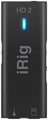 IK Multimedia iRig HD 2 - Schnittstelle für Gitarre, 96 kHz mit 24-Bit-A / D-Umwandlung, überragender Audioqualität, kompaktem, professionellem Sound, FX- und Thru-Anpassung
