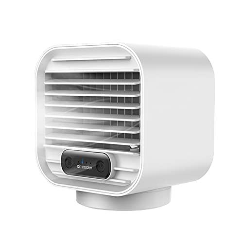 SJTL Ventilador de Aire Acondicionado, Móvil Climatizador Evaporativos con Función de Humidificación Purificador, 3 Niveles de Potencia, Función Temporizador, Enfriamiento, Ventilación,Blanco
