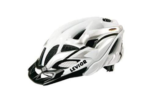 Levior Erwachsene Fahrradhelm Opus Visor, Silber-Weiß Glänzend, L, 45303500