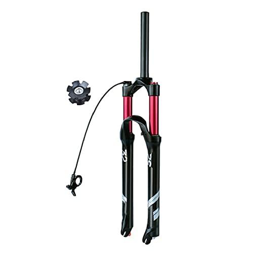 Suspensión Delantera de Bicicleta 140mm Recorrido,MTB Horquilla Suspensión Aleación de Magnesio Freno de Disco 1-1/8' Horquilla Control de Alambre (Size : 27.5inch)