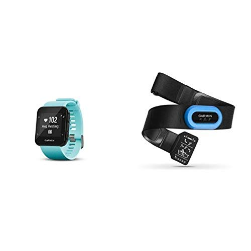 Garmin Forerunner 35 Watch and HRM-Tri Heart Rate Monitor, Frost Blue
