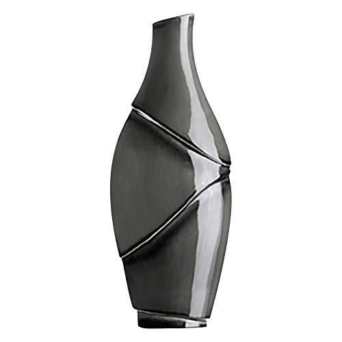 GILDE Deko Vase 'Borde', 42 cm, anthrazit
