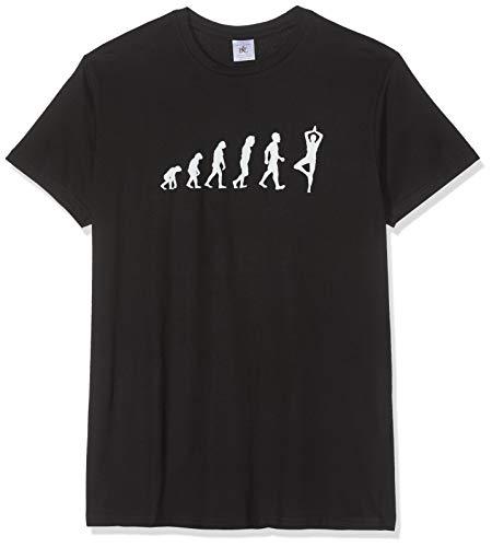 Texlab Yoga Evolution - heren T-shirt, maat L, zwart