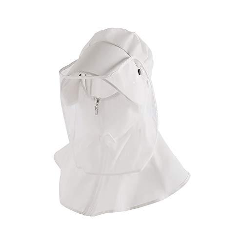 H·Aimee Hut mit Visierschutz,Gesichtsschutzschirm für Gesichtsschutz Naseschutz Augenschutz Staubschutz Sonnenschutz Mundschutz & gegen Tröpfchen