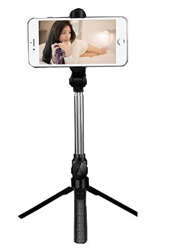 GladiolusA Selfie-Stick Stativ Mit Bluetooth Fernbedienung,Selfie Stange Monopod Kabellos Für Die Meisten IOS Android Smartphones Schwarz 1PC