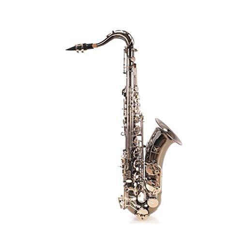 Wuhuizhenjingxiaobu Saxofón B Ajustable, Saxofón alto, níquel negro y plata, llave Dasa para principiantes, instrumento de viento profesional, 84 cm.
