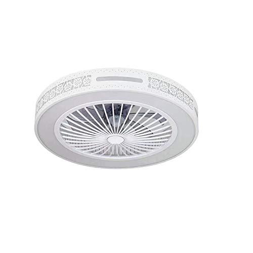 DULG Ventilador de techo Luz Moderna moderna Luz Luz Invisible Ventilador Araña Ajustable Velocidad, Iluminación de ventilador Lámpara de ventilador invisible Dormitorio, Sala de estar, Comedor, Pasil