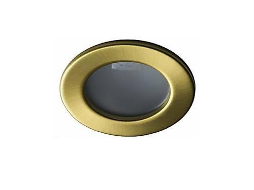 Lichtdiscount - 2W G4 Led Möbelleuchte Lampe Einbaustrahler 12V Spot messing gebürstet - nur 22 mm Einbautiefe