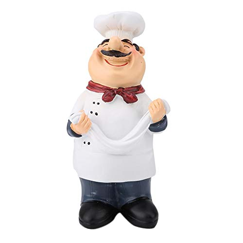 01 Statue de Chef, Figurine de Chef en résine drôle Heureux, décor de Chef, pour Figurine à Collectionner de Cuisine pour la décoration(71110-02 Take Ramen Chef)