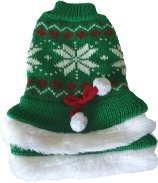 Christmassy green dog sweater pet clothing