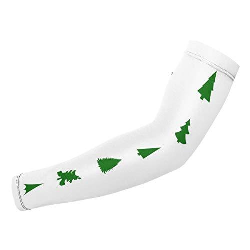 Rterss Armschoner mit Weihnachtsbaum-Silhouette, personalisierbar, Sonnenschutz, warm, Unisex, Outdoor-Sport (1 Paar)