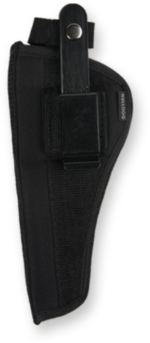 Bulldog Cases Belt and Clip Ambi Holster (Fits Most Large Frame Revolvers with 5-6-Inch Barrels, Ruger Redhawk) by