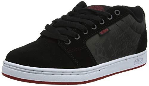 Etnies Metal Mulisha Barge XL, Chaussures de Skateboard Homme, Noir (Black/White/Red 978), 41 EU
