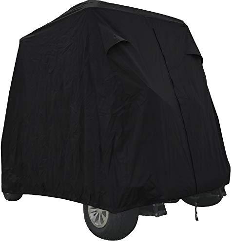 SUMMATES Golf Cart Cover, Fits Yamaha Drive, EZ Go,Club Car Precedent,Color Tan, Dark Gray