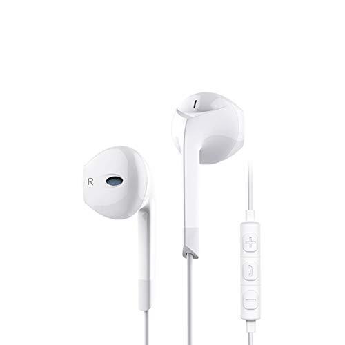 HShyxlkj koptelefoon met kabelafstandsbediening, elektronische tuning, 3,5 mm met universele kabel, hifi-bas, stereo, muziek, koptelefoon met microfoon