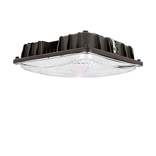 GKOLED 40W LED Square Canopy Light Replaces 175W PSMH with 5450lumens, 5000K and Dark Bronze Finish, UL Listed and DLC Qualified, 5-Year Limited Warranty Ideal for Indoor and Outdoor Applications