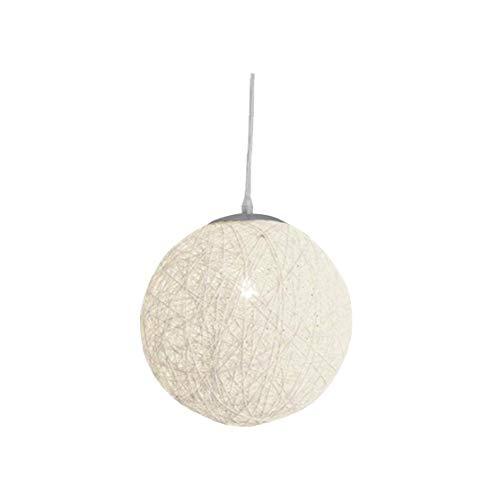 Nicedier Luz Pendiente de la lámpara de Sombra Textura luz Colgante de Cocina Comedor Interior de la Sala Blanca 1pc 15cm