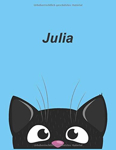 Personalisiertes Notizbuch: Julia - über 100 Seiten, liniert im A4+ Format