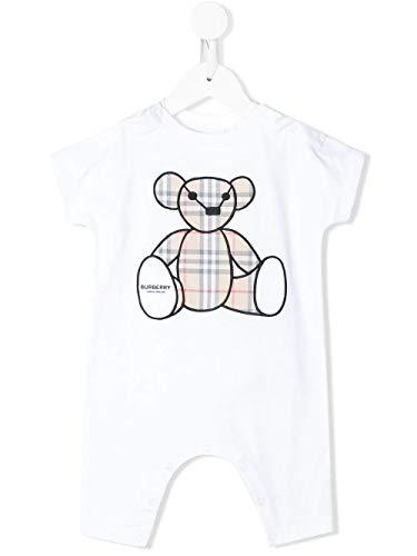 BURBERRY Luxury Fashion Baby - Mädchen 8022709 Weiss Kleid  