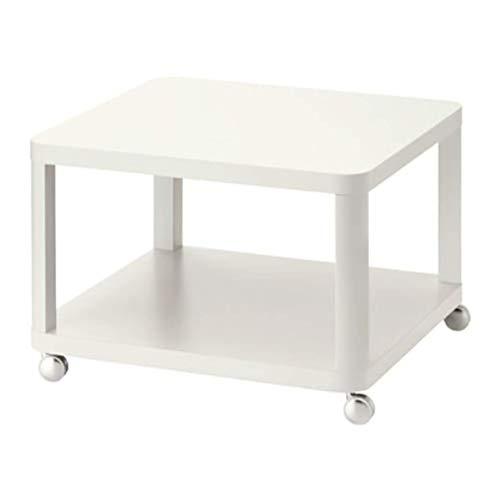 IKEA Tingby 202.959.25 Beistelltisch auf Rollen, Weiß, Größe 63 x 63 cm