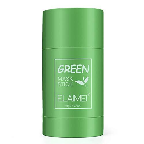 Mascarilla en barra de arcilla purificadora de té verde Mascarilla facial sólida para control de aceite