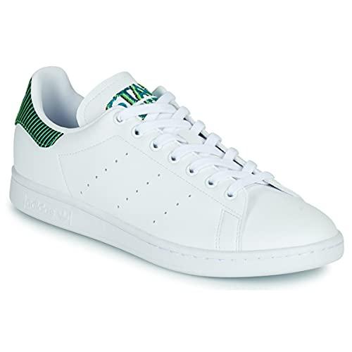 adidas Stan Smith, Sneaker Hombre, Cloud White/Cloud White/Solar Green, 42 2/3 EU