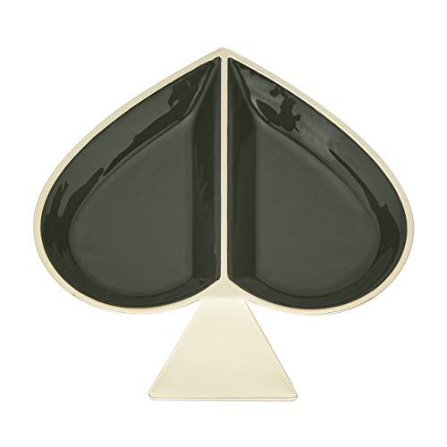 Kate Spade New York Spade Street Green Jewelry Dish Schale, vergoldet, Clover, 0.5 LB
