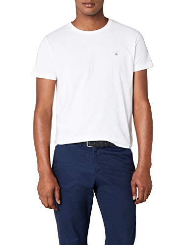GANT Herren The ORIGINAL SOLID T-Shirt, Weiß (White 110), Medium (Herstellergröße: M)