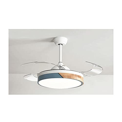 FXJ Luz de Ventilador Invisible, Ventilador de Techo Moderno con Ventilador LED Ligero retráctil for Sala de Estar de Dormitorio (Color : E, tamaño : 42inch)